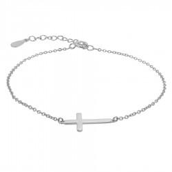 Pulsera plata cruz