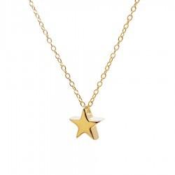 Gargantilla estrella plata...