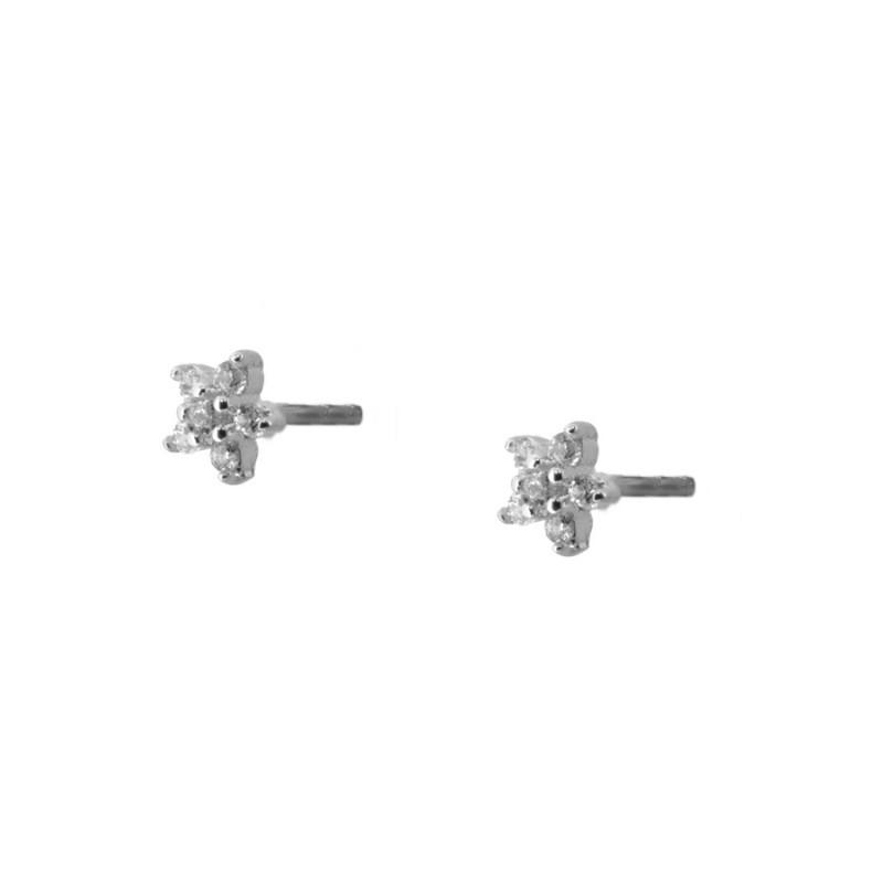 49b8e96b34a5 Pendientes mini estrella circonita plata