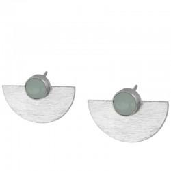 Pendiente Aqua plata