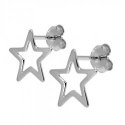 Pendientes plata estrella