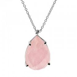 Collar Ambar plata rosa
