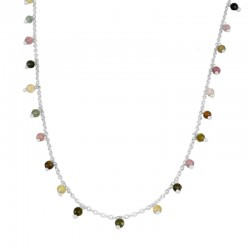 Collar Tessa multicolor plata