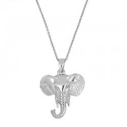 Gargantilla Elefant plata