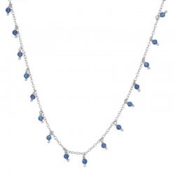 Gargantilla Camila azul plata
