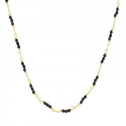Collar Amely Negro plata...