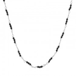 Collar Amely Negro plata