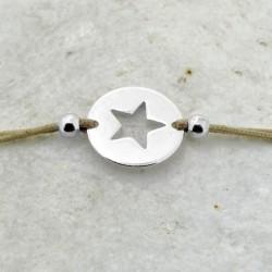 Pulsera cordón Star plata