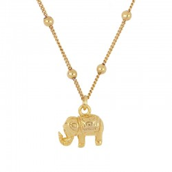 Collar Elephant plata baño oro