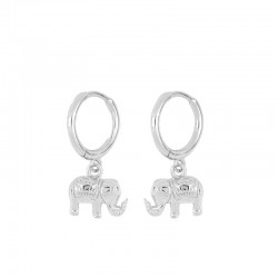 Pendiente Elephant plata