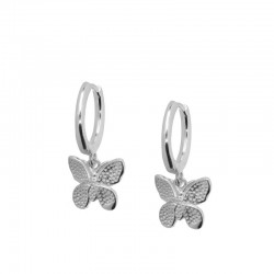 Pendientes Mariposa plata