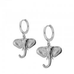 Pendiente Elefante2 plata
