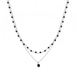 Collar Dobol negro plata