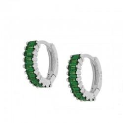Pendiente Altium Verde plata