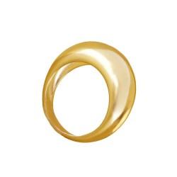 Anillo Layren plata baño oro