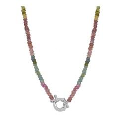 Collar Samil multicolor plata