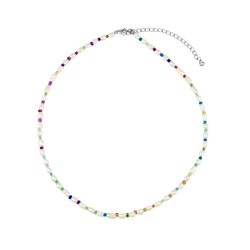 Collar Arcoiris plata