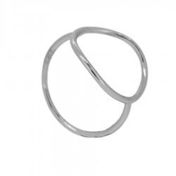 Anillo plata círculo