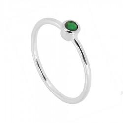 Anillo plata piedra verde