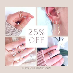 SORPRESA!🥳🎉 Ya tenéis toooda la web con un 25% de descuento 🎉  Aprovecha éste descuentazo para llenar tu verano de joyas😍  www.quemonis.com  #quemonisjewelry #quemonis #jewelry #jewerlyblogger #joyasdeplata #joyas #regalosmama #regalosmujer #regalos #pendientesplata #pendientes #anillos #descuentos #ofertas #rebajas