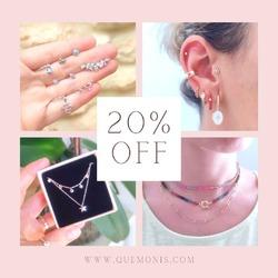 Todavía no te has enterado? 😉  20% DE DESCUENTO EN TODA LA WEB 🥳  ÚLTIMOS DÍAS 🎉  www.quemonis.com  #joyasdeplata #joyería #jewerlyblogger #jewelry #joyas