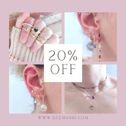 Últimos días con toda la web con un 20% de descuento 🎉  Aprovecha 😊  www.quemonis.com  #quemonisjewelry #quemonis #jewelry #jewerlyblogger #joyasdeplata #joyas #plata #regalosmama #regalosmujer #regalos #pulseras #anillos #pendientes #collares #descuentos #ofertas