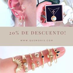 Aquí tenéis la SORPRESA DE HOY! 20% de descuento en toda la web🎉🎊  Te quedaste sin alguna joyita éstas rebajas? Pues aprovecha para hacerte con ella con un 20% de descuento 🎉  www.quemonis.com  #quemonispendientes #quemonisjewelry #quemonis #jewelry #jewerlyblogger #joyas #joyasplata #pendientesplata #pendientes #pendientesoriginales #anillos #collares #regalos